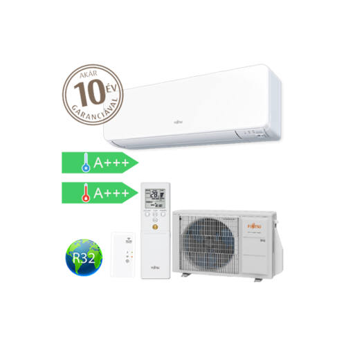 Fujitsu DESIGN KG oldalfali inverteres split klíma 2,5 kW (R32)