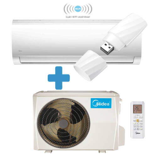 Midea Blanc oldalfali mono split klíma - MA-18N8D0-SP-WIFI 5,3 kW, R32 hűtőközeg