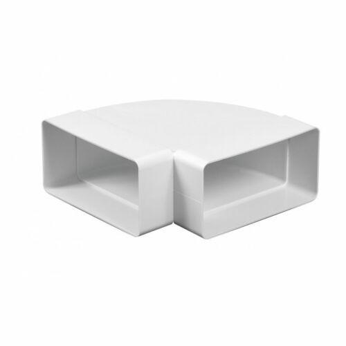 Awenta KP55-24/90 PVC vízszintes könyök 90°- 55x110 mm lapos csatornához