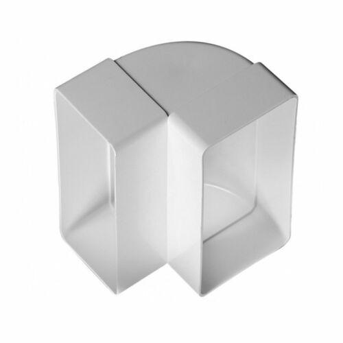 Awenta KP55-25 PVC függőleges könyök 90°- 55x110 mm lapos csatornához