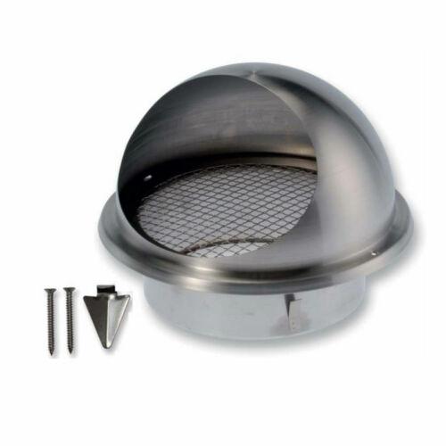 ATC BLR-E-RL 125 Rozsdamentes acél kültéri esővédő rács csatlakozó csonkkal