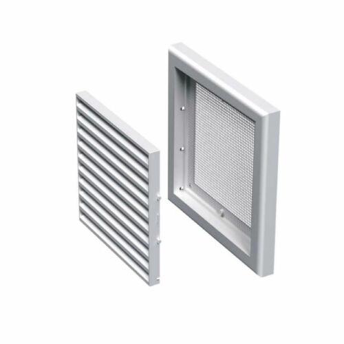 ATC VMV S Fix műanyag szellőzőrács +védőháló fehér több méretben