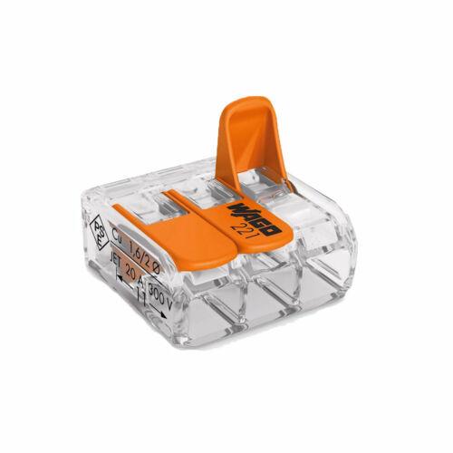 WAGO Compact 3 vezetékes összekötő 4 mm²-ig (Sorkapocs)