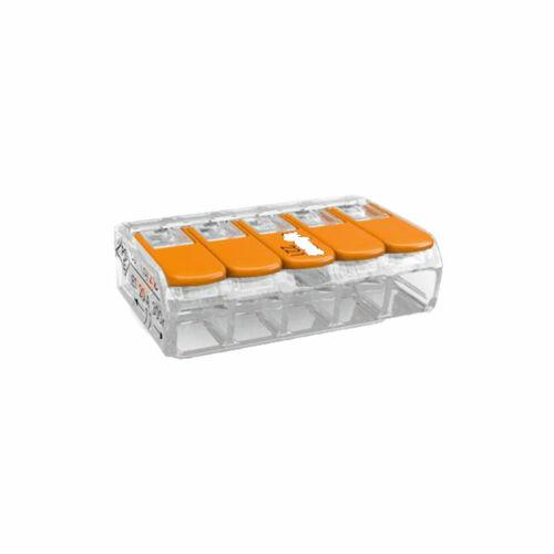 WAGO Compact 5 vezetékes összekötő 4 mm²-ig (Sorkapocs)