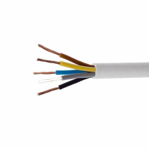 H05VV-F 5x1 mm (5G1) fehér MT kábel (sodrott) 100 m