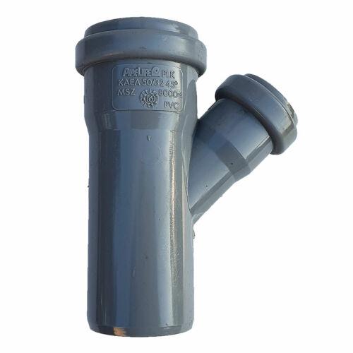 PIPELIFE PVC Tokos ágidom lefolyó csatornához (gumitömítéssel) 50x32mm / 45°