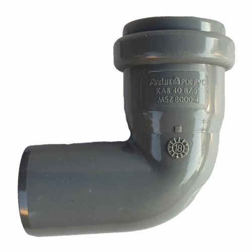 PIPELIFE PVC Tokos ívidom lefolyó csőhöz 40mm 87,5° (~90°)