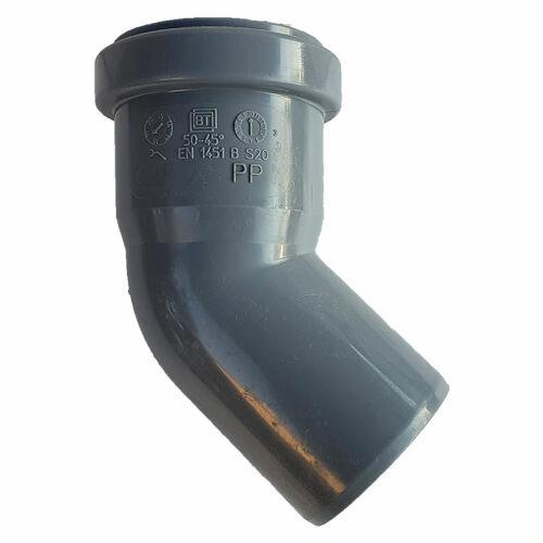 PIPELIFE PVC Tokos ívidom lefolyó csőhöz 50mm 45°