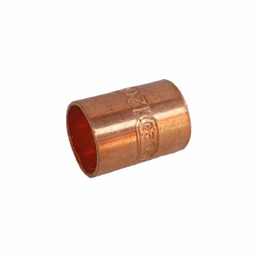 Rézcső idom egyenes karmantyú BB 12mm