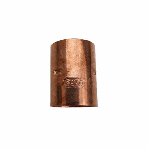 Rézcső idom egyenes karmantyú BB 15mm
