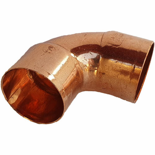 Rézcső idom könyök BB 90° 42mm