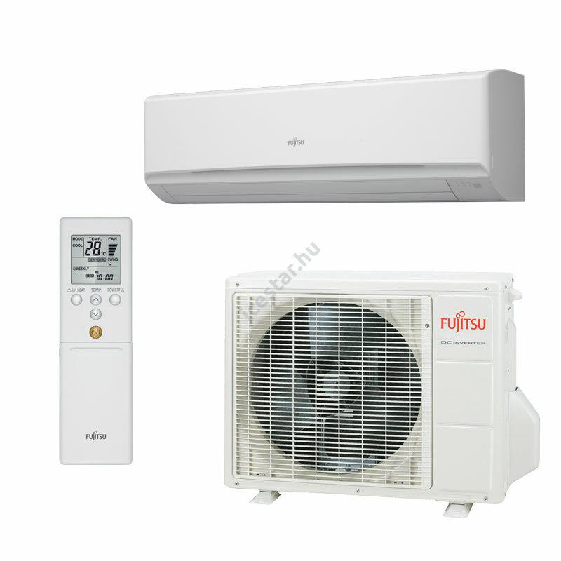Fujitsu STANDARD oldalfali inverteres split klíma 8,8 kW - szerver helyiségekbe
