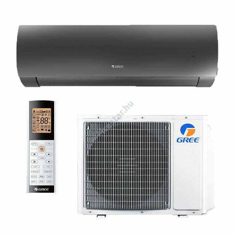 Gree Dark X inverteres -oldalfali split 3,5 kW klíma WiFivel