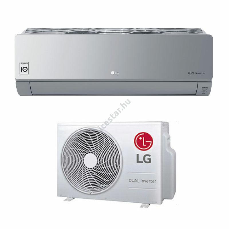 "LG ""Artcool Silver"" oldalfali inverteres split klíma 3,5 kW - WiFi vezérléssel"