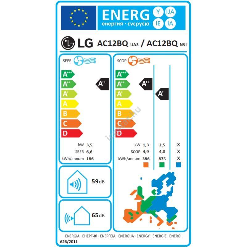 "LG ""Artcool Mirror"" oldalfali inverteres split klíma 3,5 kW - WiFi vezérléssel"