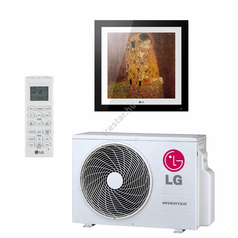 """LG """"Artcool Gallery"""" oldalfali inverteres split klíma 3,5 kW - WiFi vezérléssel, cserélhető képpel"""