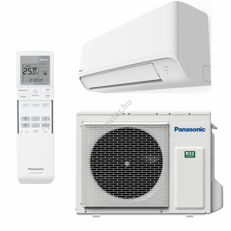 PANASONIC TZ CS-TZ25WKEW/CU-TZ25WKE oldalfali split klíma 2,5kW WIFIvel