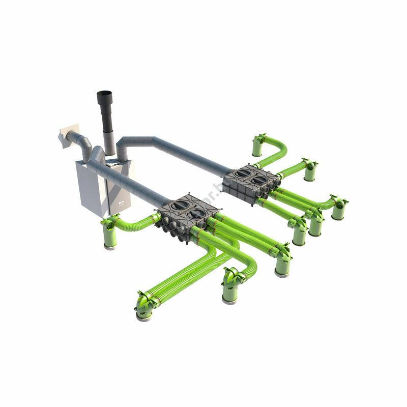 UBBINK Air Excellent Szelepfogadó adapter hosszú csonkkal 2x DN75/63 - DN125/ 90° 4
