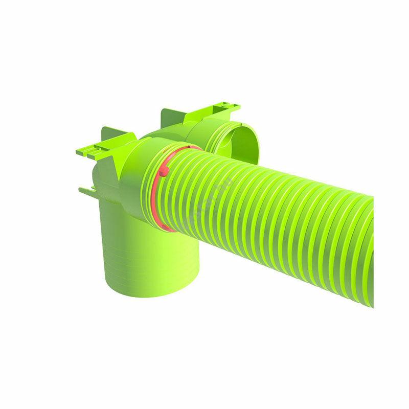 UBBINK Air Excellent Szelepfogadó adapter hosszú csonkkal 2x DN75/63 - DN125/ 90° 2