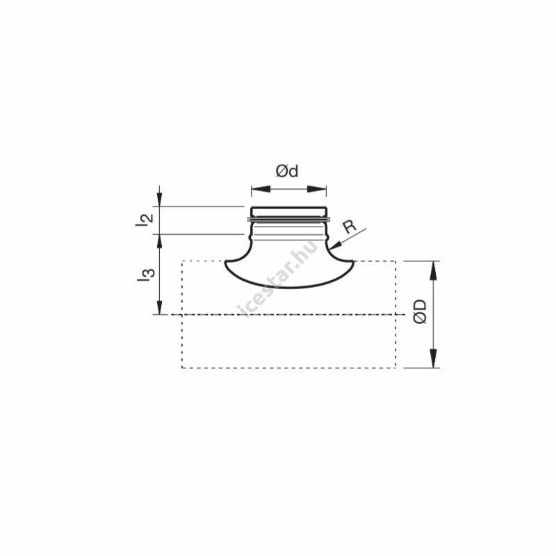 ATC ARG90 nyeregidom gumitömítéssel 200/150