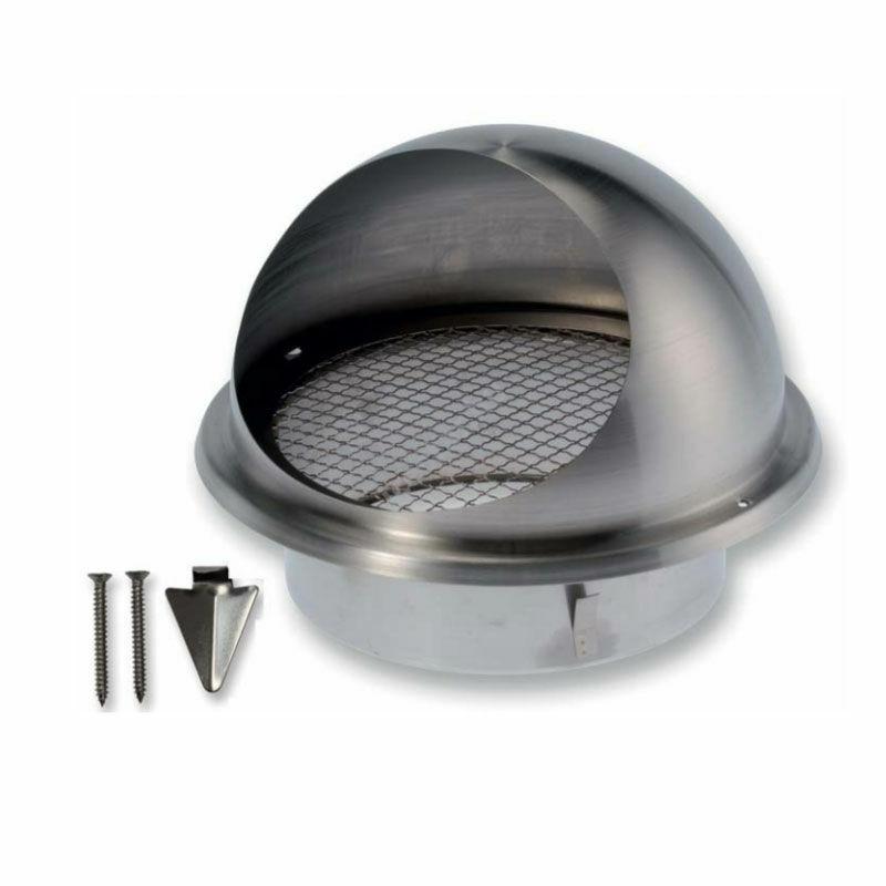 ATC BLR-E-RL 150 Rozsdamentes acél kültéri esővédő rács csatlakozó csonkkal