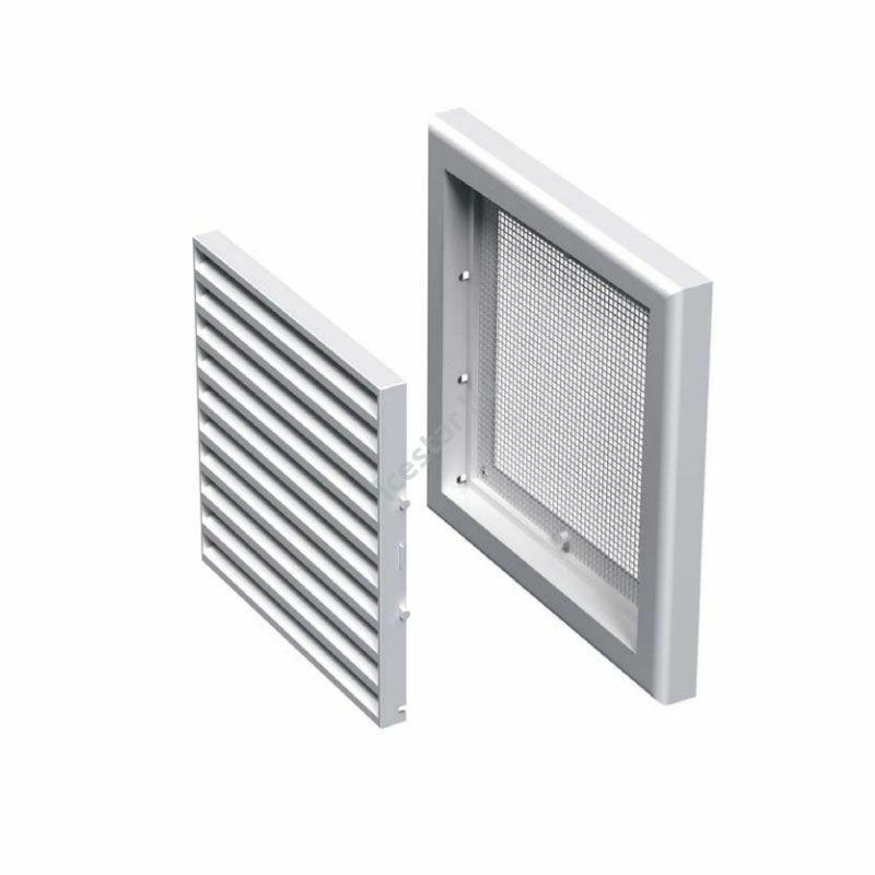 ATC VMV 100s Fix műanyag szellőzőrács +védőháló fehér