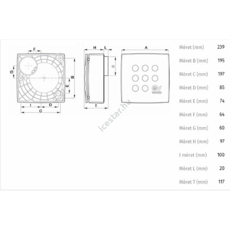 VORTICE Micro 100T Radiális kisventilátor3