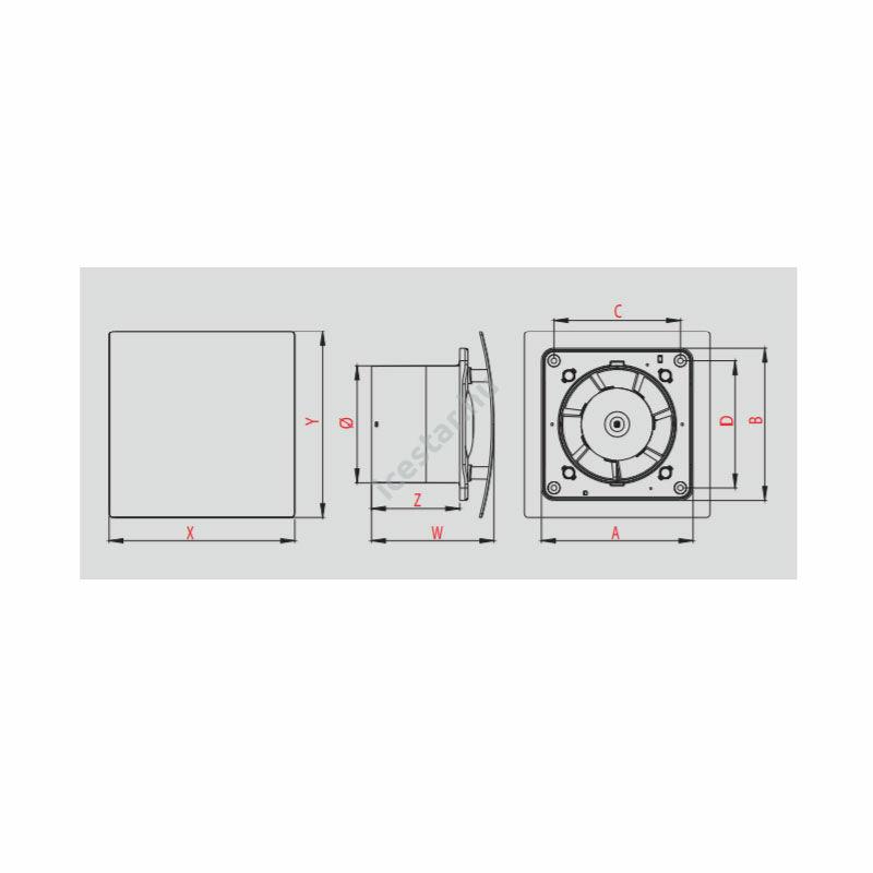 Awenta Escudo axiális ventilátor WES100 alap változat-ezüst