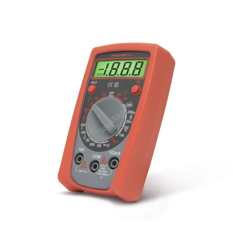 MAXWELL 25201 Digitális multiméter hőmérséklet mérésse1l
