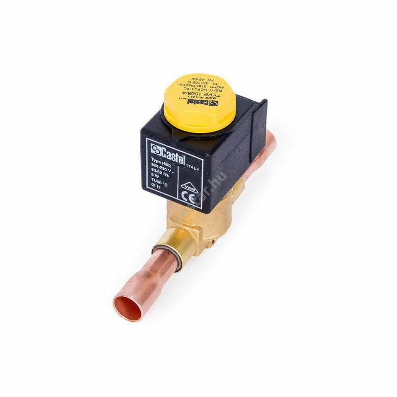 CASTEL Mágnesszelep 10mm (tekerccsel) - forraszos1