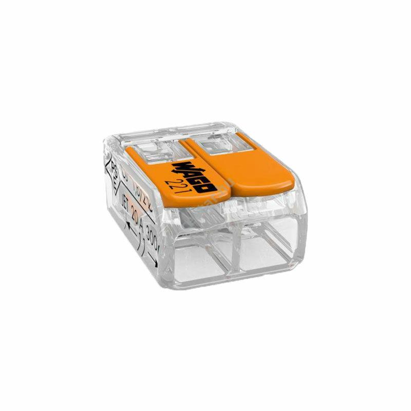 WAGO Compact 2 vezetékes összekötő 4 mm²-ig (Sorkapocs)