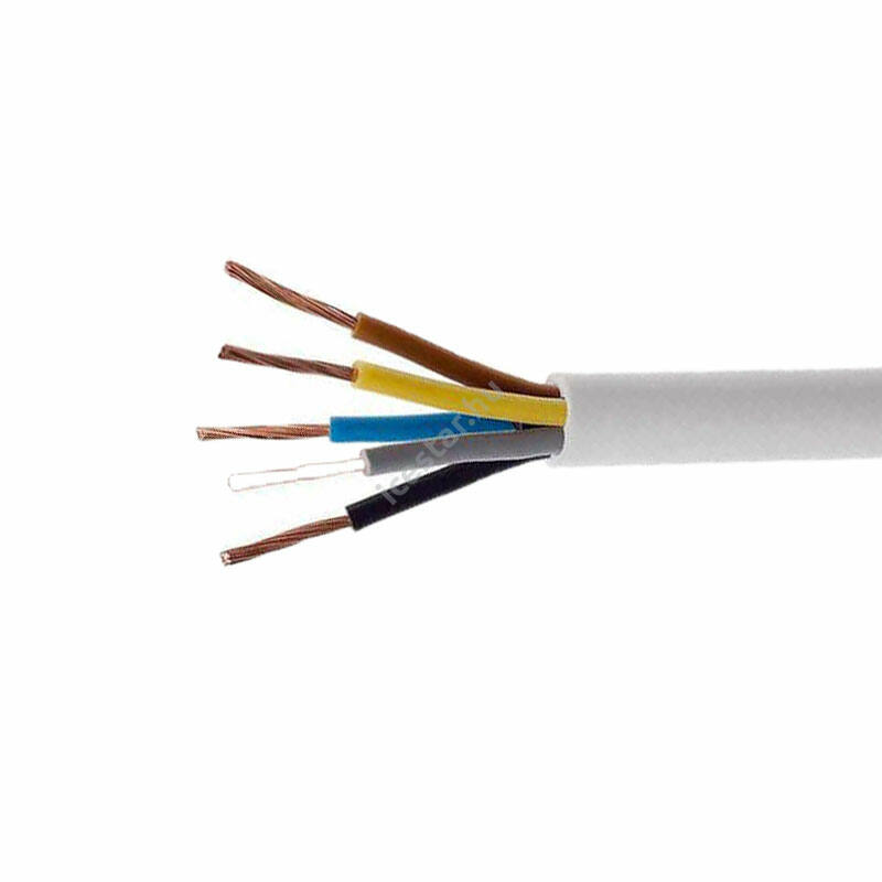 H05VV-F 5x1,5 mm (5G1,5) fehér MT kábel (sodrott) 100 m