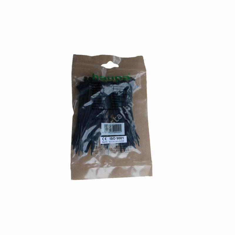 HAUPA Kábelkötegelő fekete100×2,5mm 100 db 1