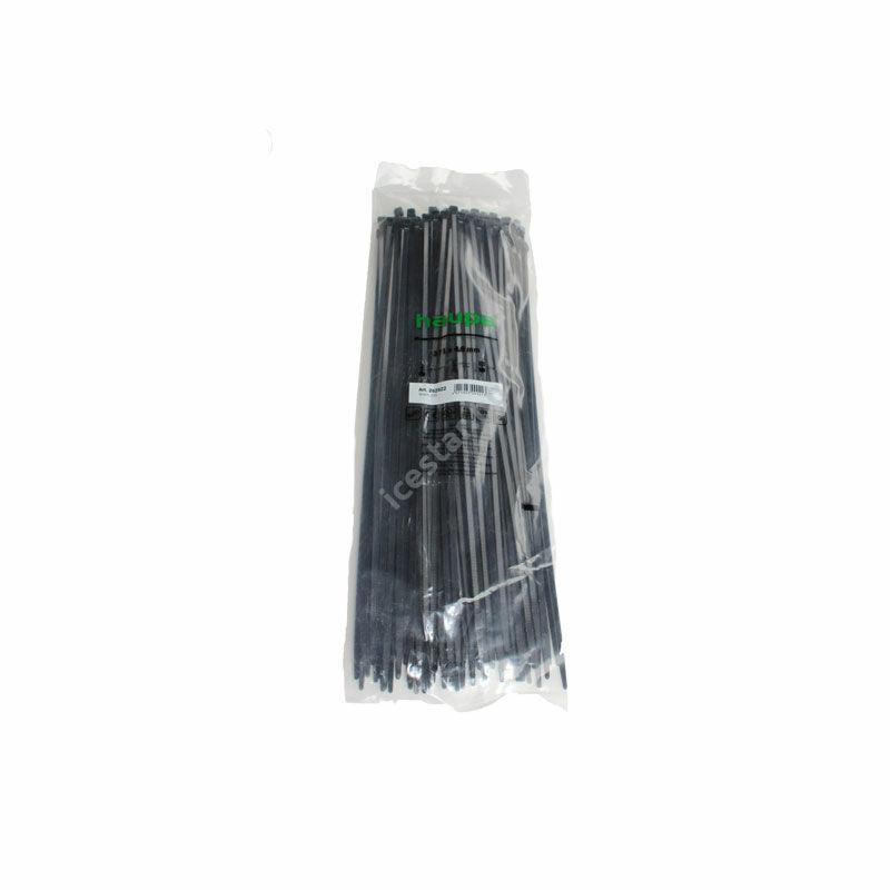 HAUPA Kábelkötegelő fekete 371×4,8mm 1 csomag /100 db