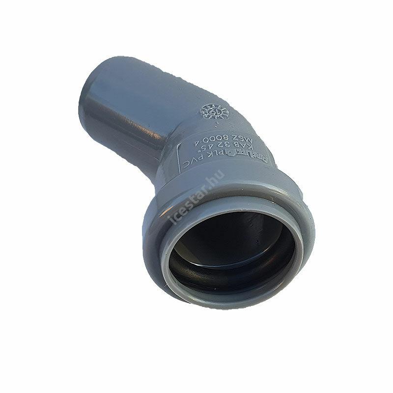 PIPELIFE PVC Tokos ívidom lefolyó csőhöz 32mm 45° 1