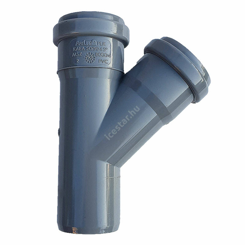 PIPELIFE PVC Tokos ágidom lefolyó csatornához (gumitömítéssel) 32x32mm / 45°