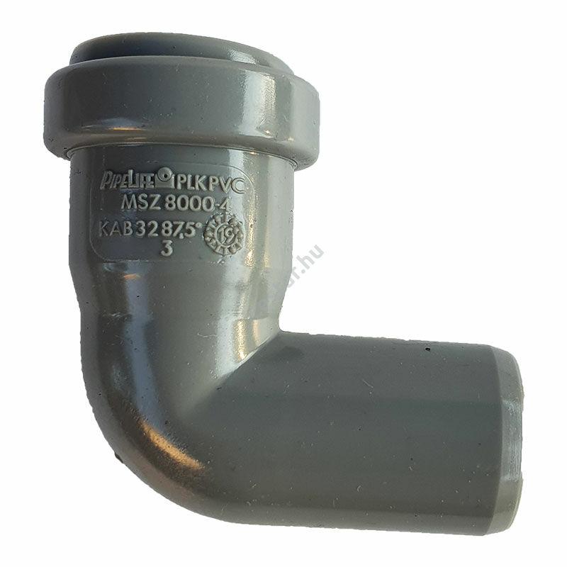 PIPELIFE PVC Tokos ívidom lefolyó csőhöz 32mm 87,5° (~90°)