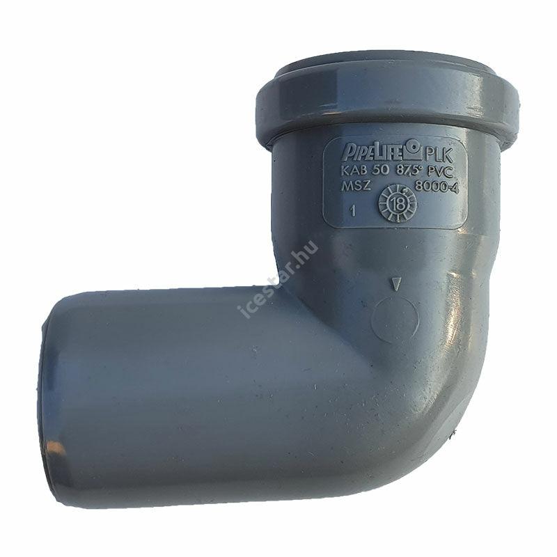 PIPELIFE PVC Tokos ívidom lefolyó csőhöz 50mm 87,5° (~90°)
