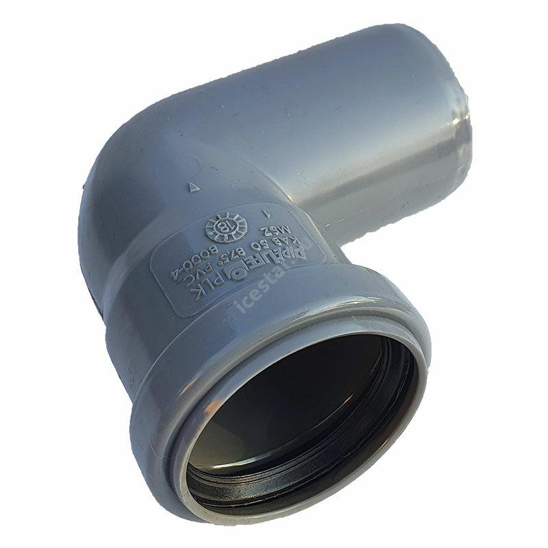 PIPELIFE PVC Tokos ívidom lefolyó csőhöz 50mm 87,5° (~90°)1
