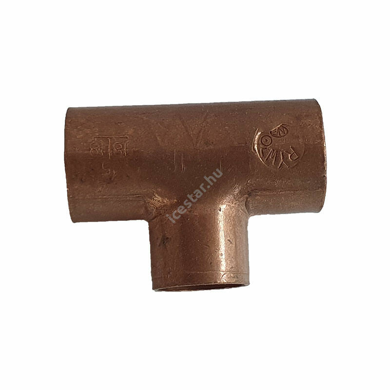 Rézcső T idom 18-15-18mm 1
