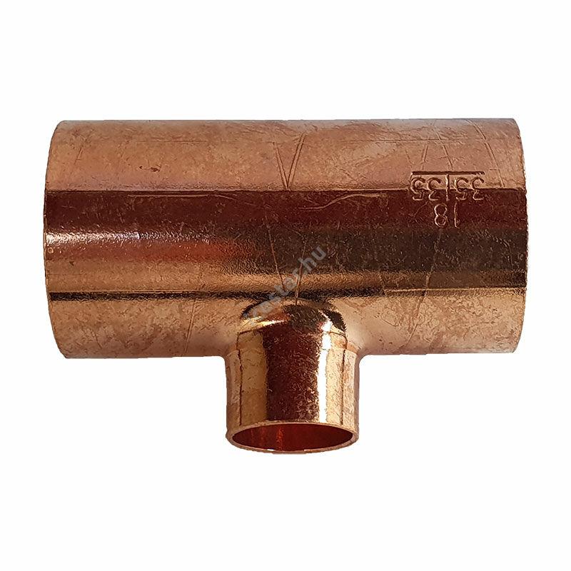 Rézcső T idom 35-18-35mm 1