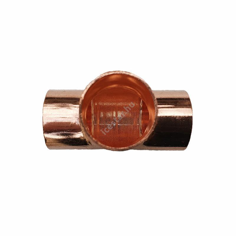 Rézcső T idom 35-35-35mm 1