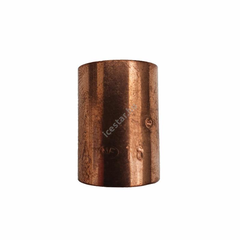 Rézcső idom egyenes karmantyú BB 16mm
