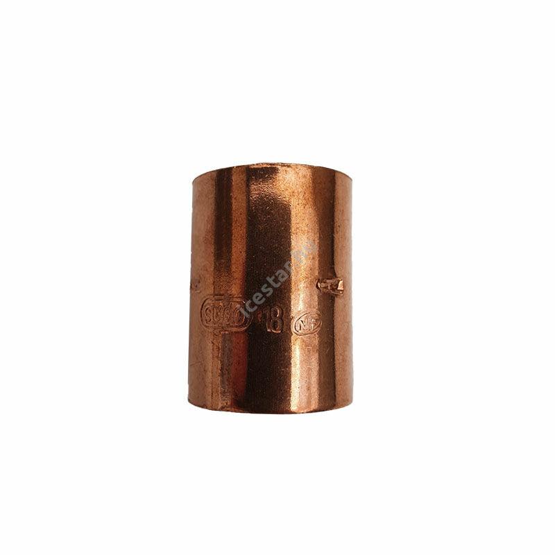 Rézcső idom egyenes karmantyú BB 18mm