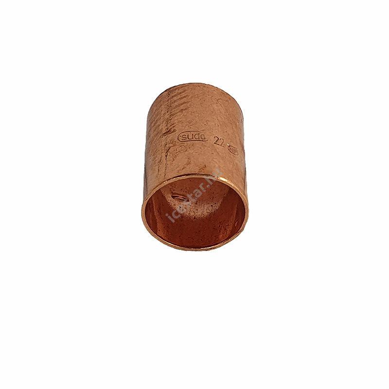 Rézcső idom egyenes karmantyú BB 22mm