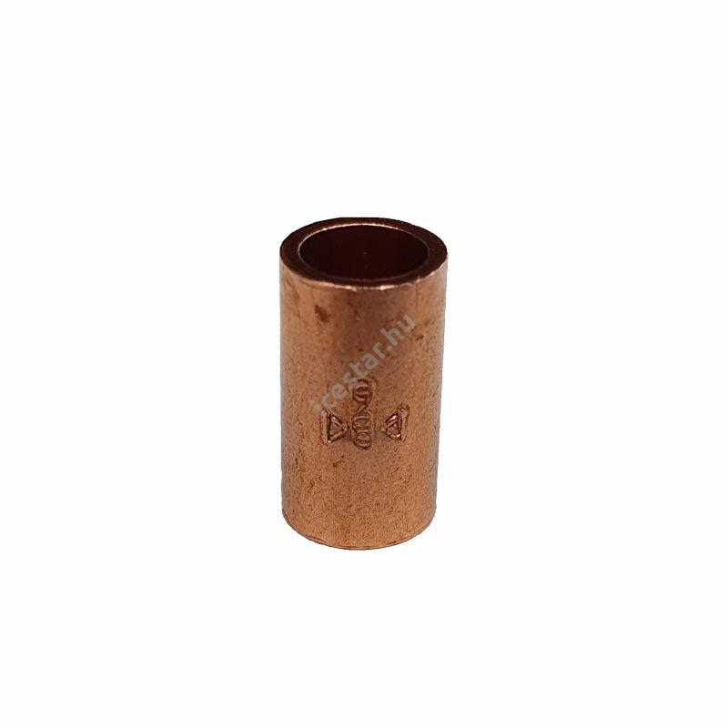 Rézcső idom egyenes karmantyú BB 6mm