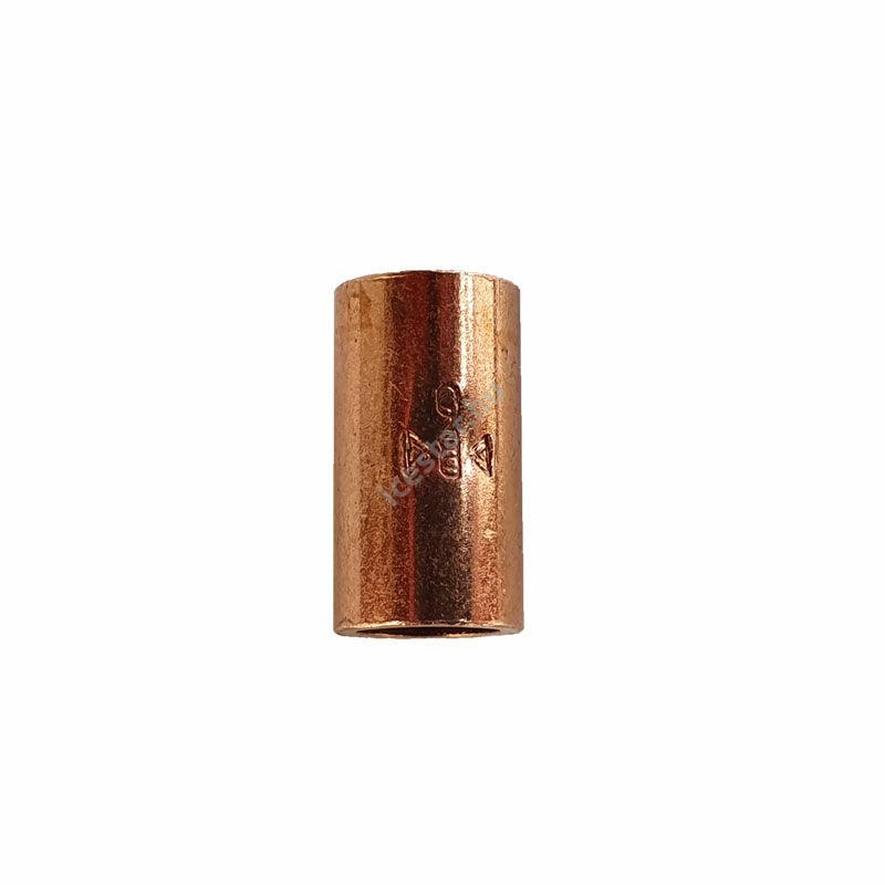 Rézcső idom egyenes karmantyú BB 6mm  1