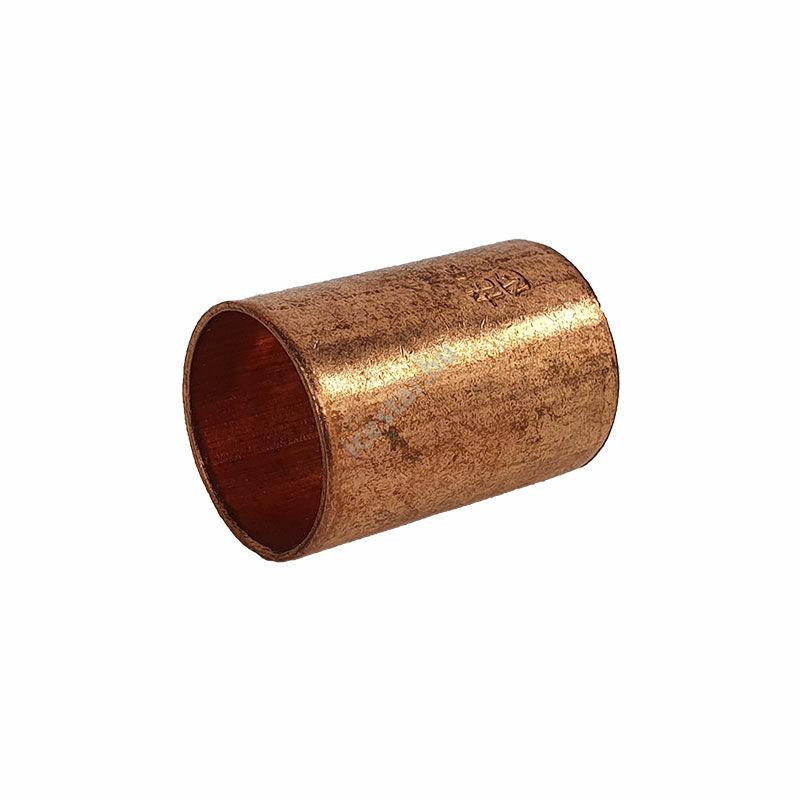Rézcső idom egyenes karmantyú BB 16mm 1