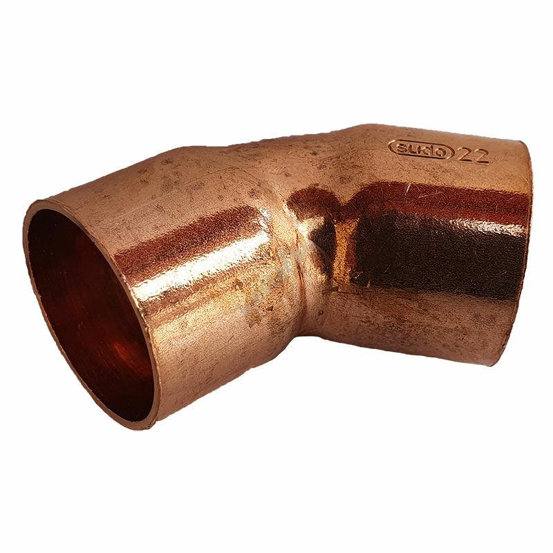 Rézcső idom ív BB 45° 22mm