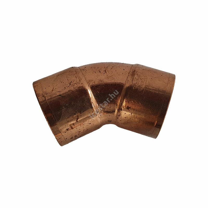 Rézcső idom ív BB 45° 54mm